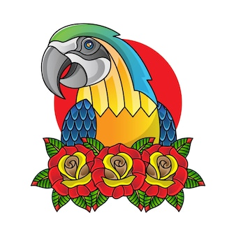 Prosta ilustracja papuga