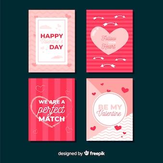 Prosta kolekcja kart valentine