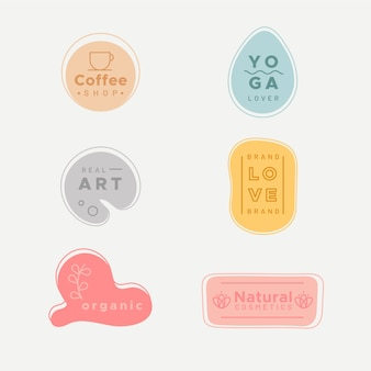 Prosta kolekcja logo w pastelowych kolorach