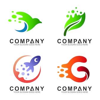 Prosta kolekcja nowoczesnego logo