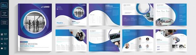 Prosta nowoczesna i kreatywna broszura.