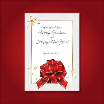 Prosta, oficjalna i elegancka świąteczna kartka okolicznościowa.