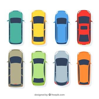 Prosta płaska kolekcja samochodów