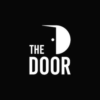 Prosta typografia logo drzwi
