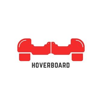 Proste czerwone logo deskorolki. koncepcja silnika, innowacji, sportu, żyroskopu, opony, aktywności ulicznej, gadżetu maszyny. na białym tle. płaski styl trendu marki projektowania ilustracji wektorowych