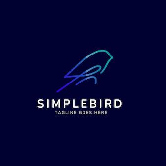 Proste logo monoline ptaka