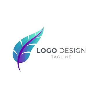 Proste logo z piórami