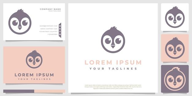 Proste, minimalistyczne logo pingwina