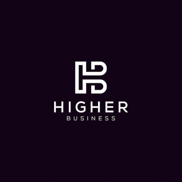 Proste, nowoczesne, minimalistyczne czarno-białe logo monogram