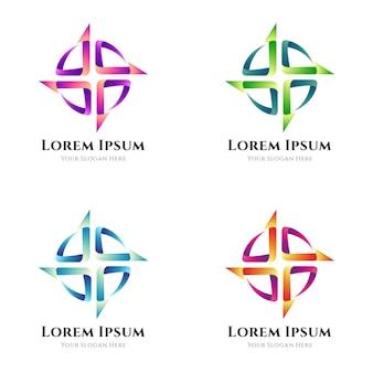 Proste odmiany logo ze strzałkami