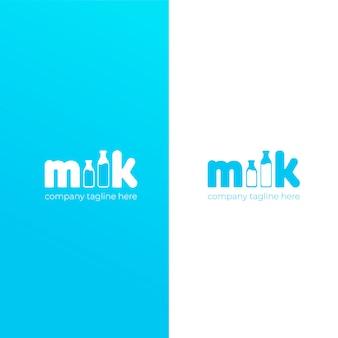 Proste, słodkie logo marki mleka krowiego.