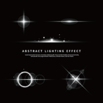 Proste tło efekt oświetlenia