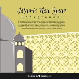 Proste tło islamski nowego roku