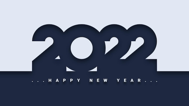 Proste tło szczęśliwego nowego roku 2022