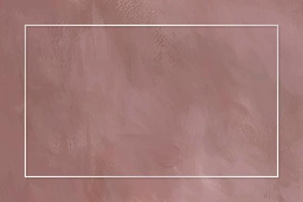 Prostokątna biała ramka na marmurze