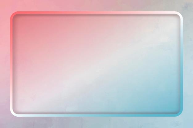 Prostokątna ramka na kolorowym szablonie tła