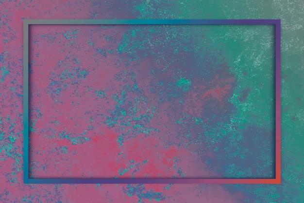 Prostokątna ramka na kolorowym tle