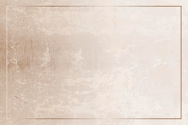 Prostokątna złota rama na grunge brązowym wektorze tła
