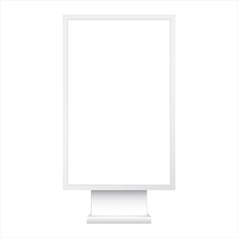 Prostokątne podświetlane pudełko. realistyczny wektor szablon lightbox