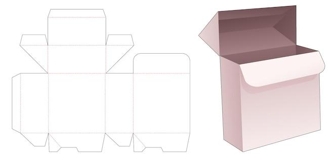 Prostokątne pudełko z zablokowanym szablonem wycinanym punktowo
