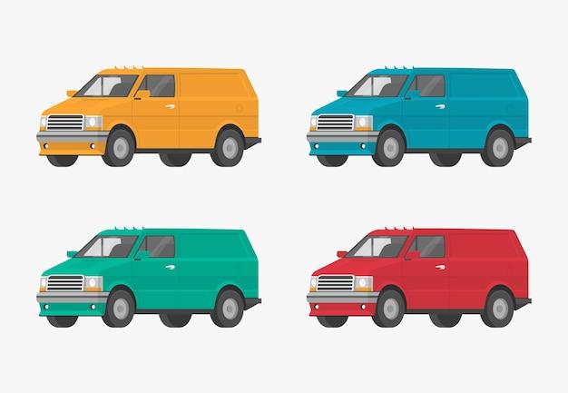 Prostokątny samochód płaski z kreskówek do projektowania graficznego i internetowego