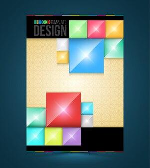 Prostokąty z projektami okładek broszury szablony