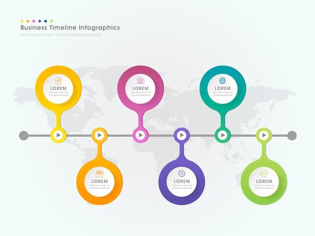 Prostota projektowania szablonu infografiki z okrągłymi elementami