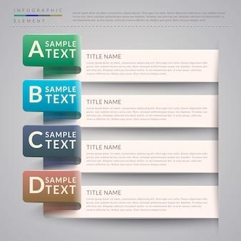 Prostota projektowania szablonu infografiki z opcjami banerów
