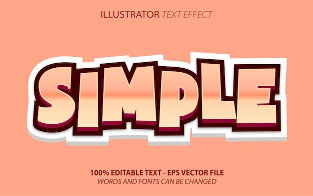 Prosty, 3d edytowalny efekt tekstowy w stylu kreskówki różowy