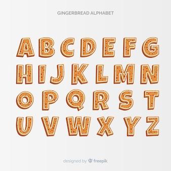 Prosty alfabet z piernika