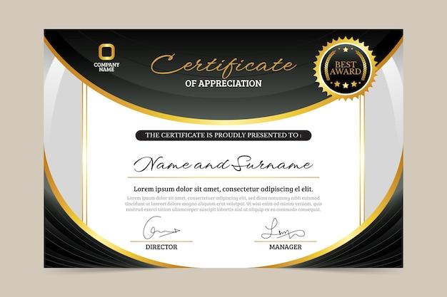 Prosty certyfikat pracownika miesiąca