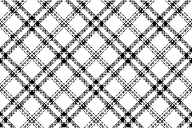 Prosty czarno-biały kraciasty wzór kratki