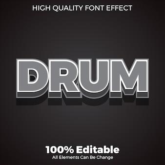 Prosty efekt czcionki edytowalnej w stylu ciemnoszarym 3d