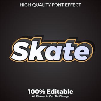 Prosty efekt czcionki edytowalny w stylu tekstu 3d