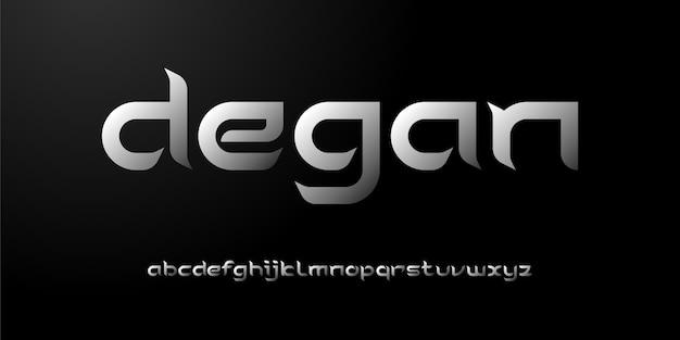 Prosty elegancki nowoczesny alfabet typografia miejskiego stylu czcionki