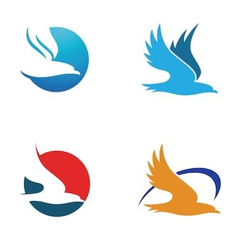 Prosty hawk eagle logo symbol szablon
