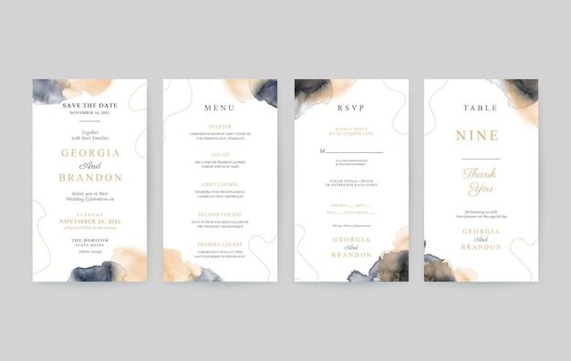 Prosty i piękny pionowy szablon zaproszenia ślubne