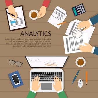 Prosty i płaski zestaw koncepcji biznesowej, szkolenia, spotkania, umowy lub partnerstwa. charakter biznesmenów, grupa, różnorodny. praca w biurze.