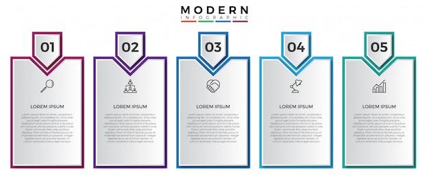 Prosty infographic projekta szablon