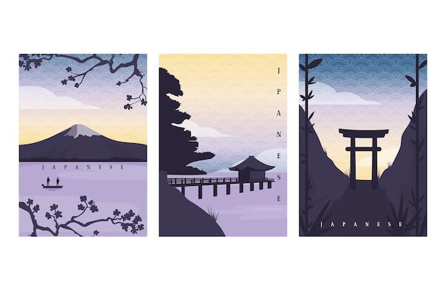 Prosty japoński zestaw okładek