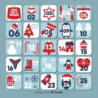 Prosty kalendarz adwentowy