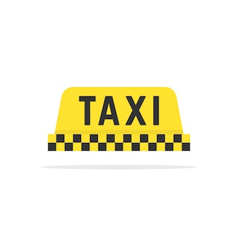Prosty kolor znak taxi. koncepcja komercyjnej taksówki, jazdy miejskiej, turystyki, godła aplikacji mobilnej. płaski trend w stylu nowoczesnej taksówki logotyp projekt ilustracji wektorowych na białym tle