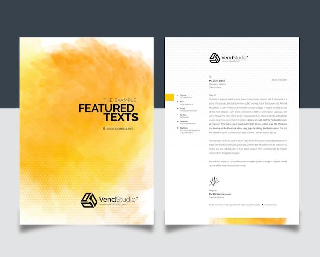 Prosty kreatywny papier firmowy