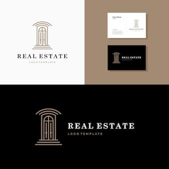 Prosty kultowy projekt logo nieruchomości