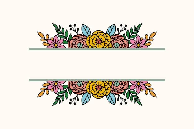 Prosty kwiatowy wzór z przestrzenią pośrodku