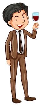 Prosty mężczyzna ubrany w strój formalny