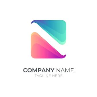 Prosty monogram litery ns / sn koncepcja logo