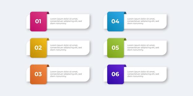 Prosty nowoczesny minimalistyczny szablon infografiki