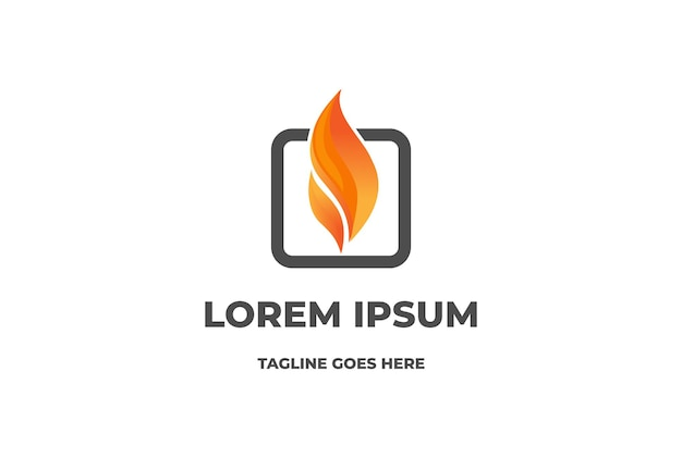Prosty nowoczesny płomień ognia 3d dla projektu logo energii gazowej vector