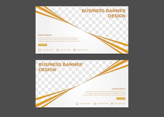 Prosty nowoczesny szablon transparentu biznesowego gradientu